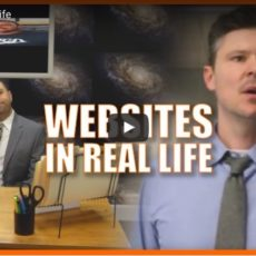 If annoying websites were real life, it would look something like this….